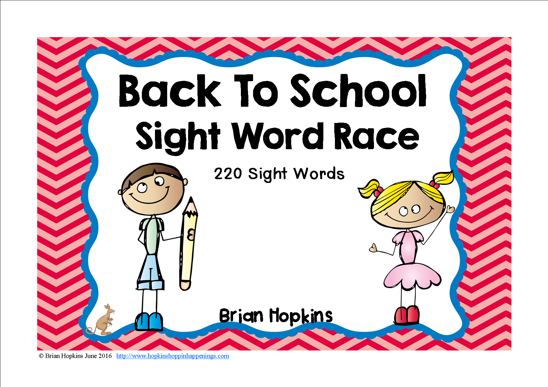 Back To School Sight Word Race Is A Board Game Where Your