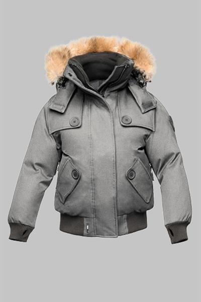 nobis nobis carla jacket; nobis womens audrina bomber jacket grey