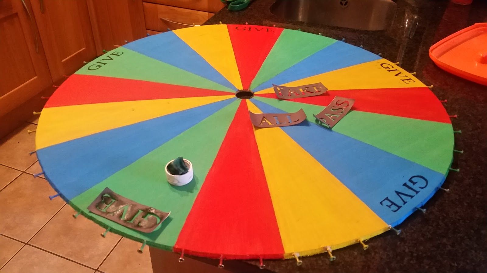 How to make an halloween wheel of fortune drinking game