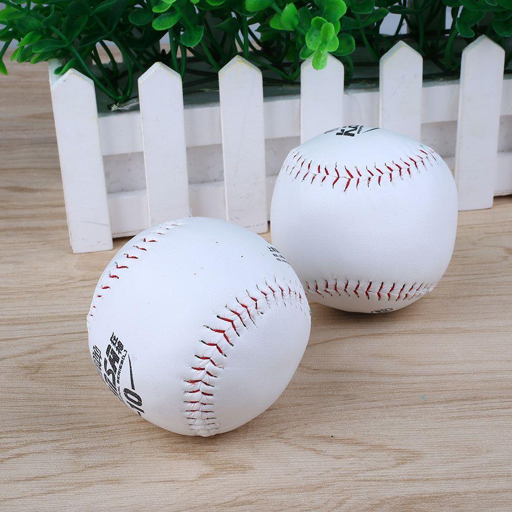 2pcs Trainning Baseball Softball Practice Base Ball Leather Outdoor Activity Baseball Baseball Softball Softball
