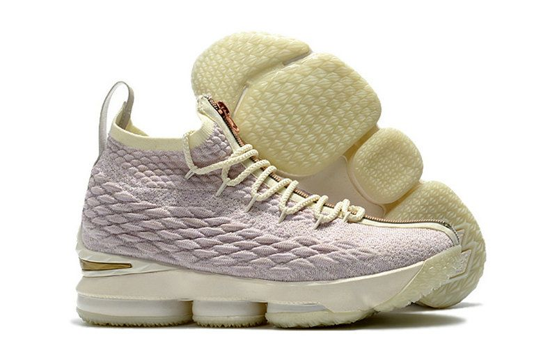 d8182e724b2a 2018 Newest Men Kith x Nike LeBron 15 Ghost Pink Rose Gold White ...