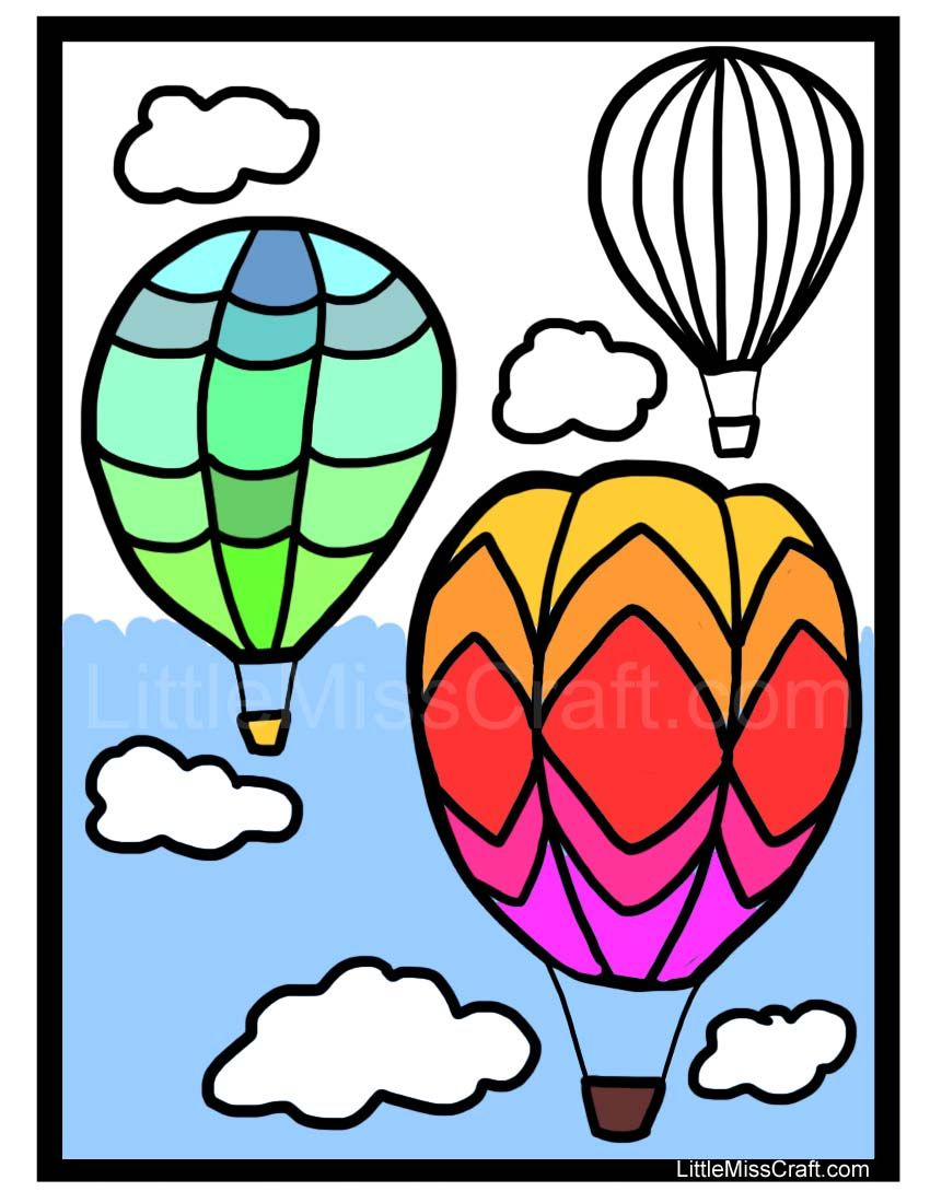 Soar away with this hot air balloon coloring page! Ready to print at ...