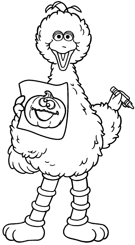 Big Bird Draw | Sesame Street Coloring Pages | Pinterest | Big bird ...