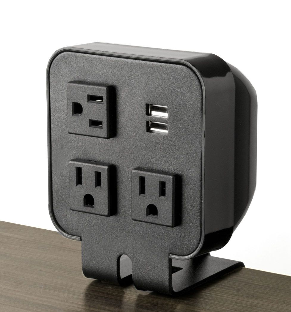three power outlet 2 usb ports desktop portable power thinking of. Black Bedroom Furniture Sets. Home Design Ideas