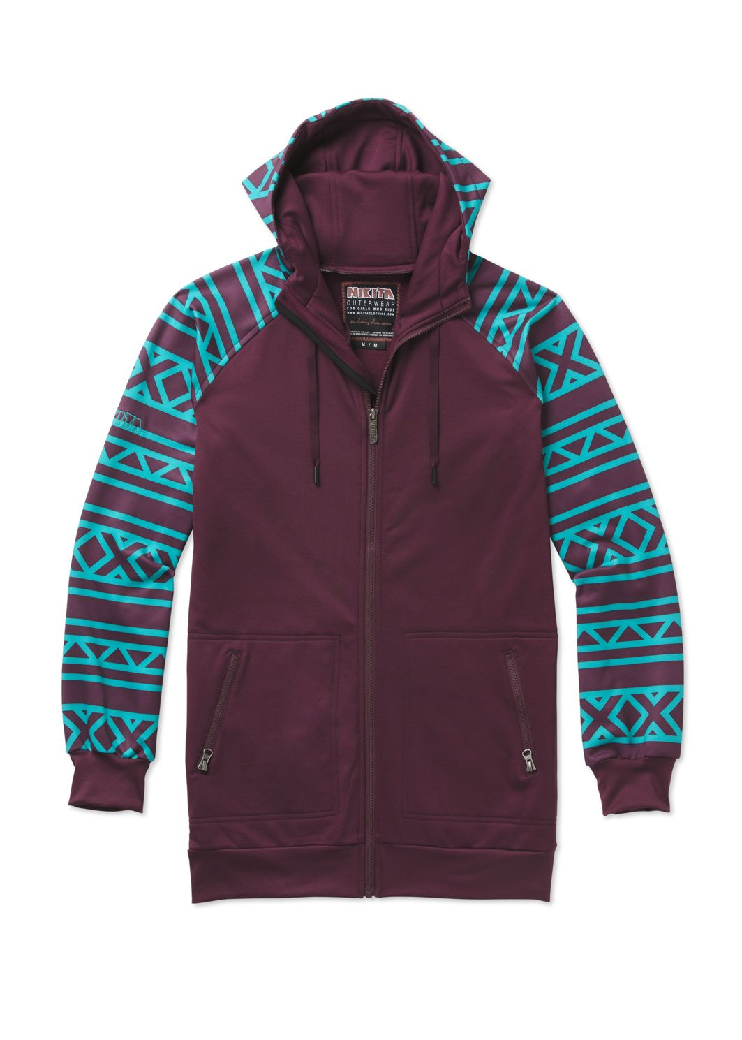 Long fit, full zip and smooth wicking Fallen Lead Fleece Jacket ...