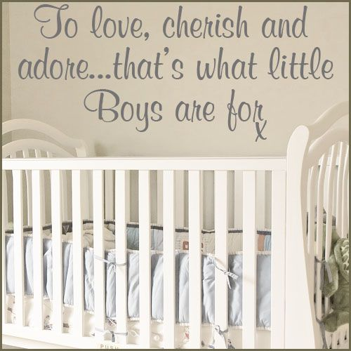 Images Of Baby Boy Nurseries TO LOVE CHERISH AND ADORE BABY BOY - Nursery wall decals baby boy