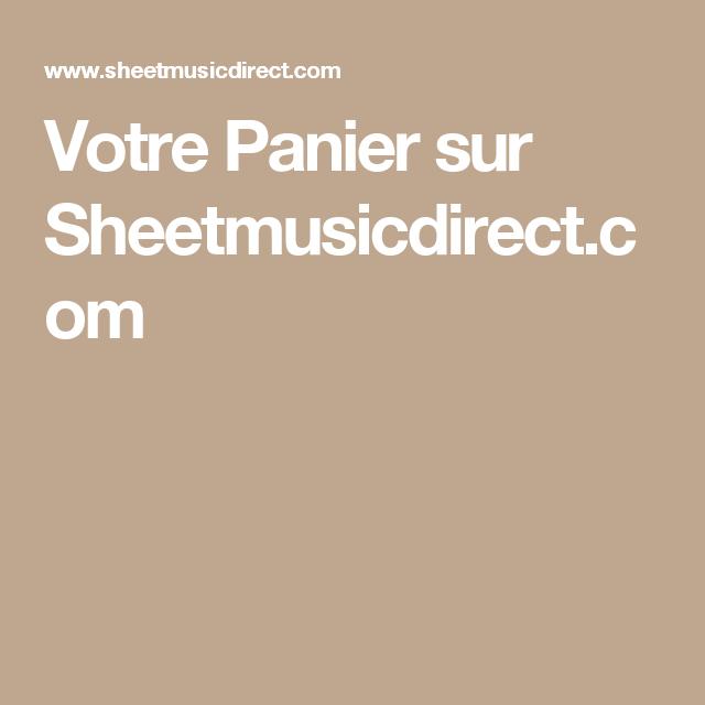 Votre Panier sur Sheetmusicdirect.com