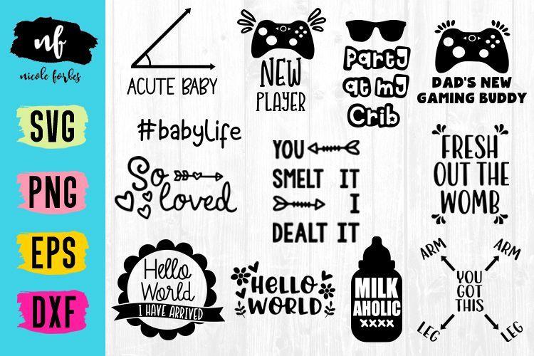 Baby Onsie SVG Bundle Baby, Free baby stuff, Monogram frame