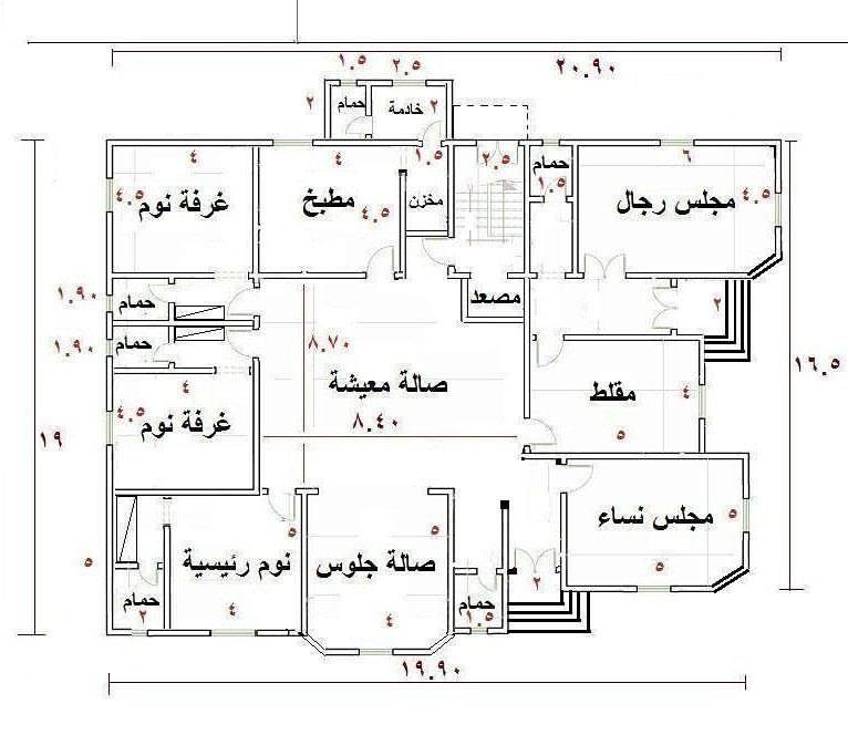مخططات دور ارضي تصميم و رسومات للطابق الاول الغدر والخيانة Square House Plans Home Design Floor Plans House Floor Design