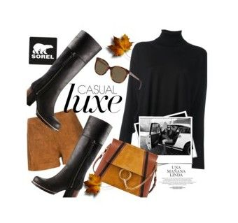 """Winners for Kick Up the Leaves (Stylishly) With SOREL"" by polyvore ❤ liked on Polyvore featuring MM6 Maison Margiela, SOREL, Chloé, rag & bone, Christian Dior and sorelstyle"