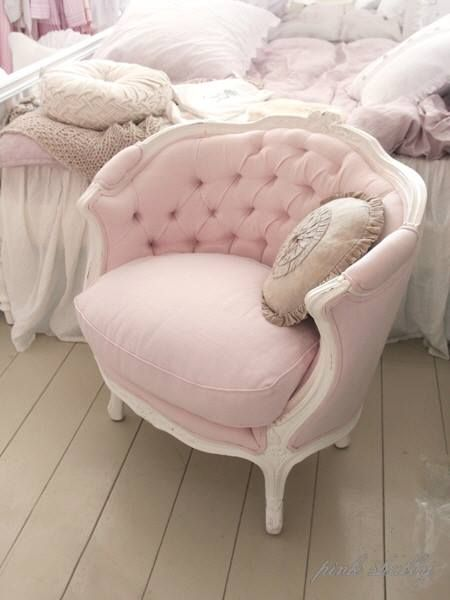 Cute Looking Shabby Chic Bedroom Ideas | Shabby, Pink chairs and ...