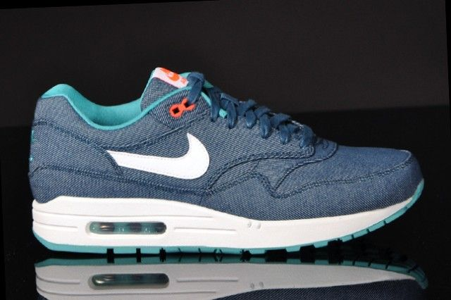 2403e12f70d NIKE AIR MAX 1 DENIM (MID TURQUOISE WHITE)
