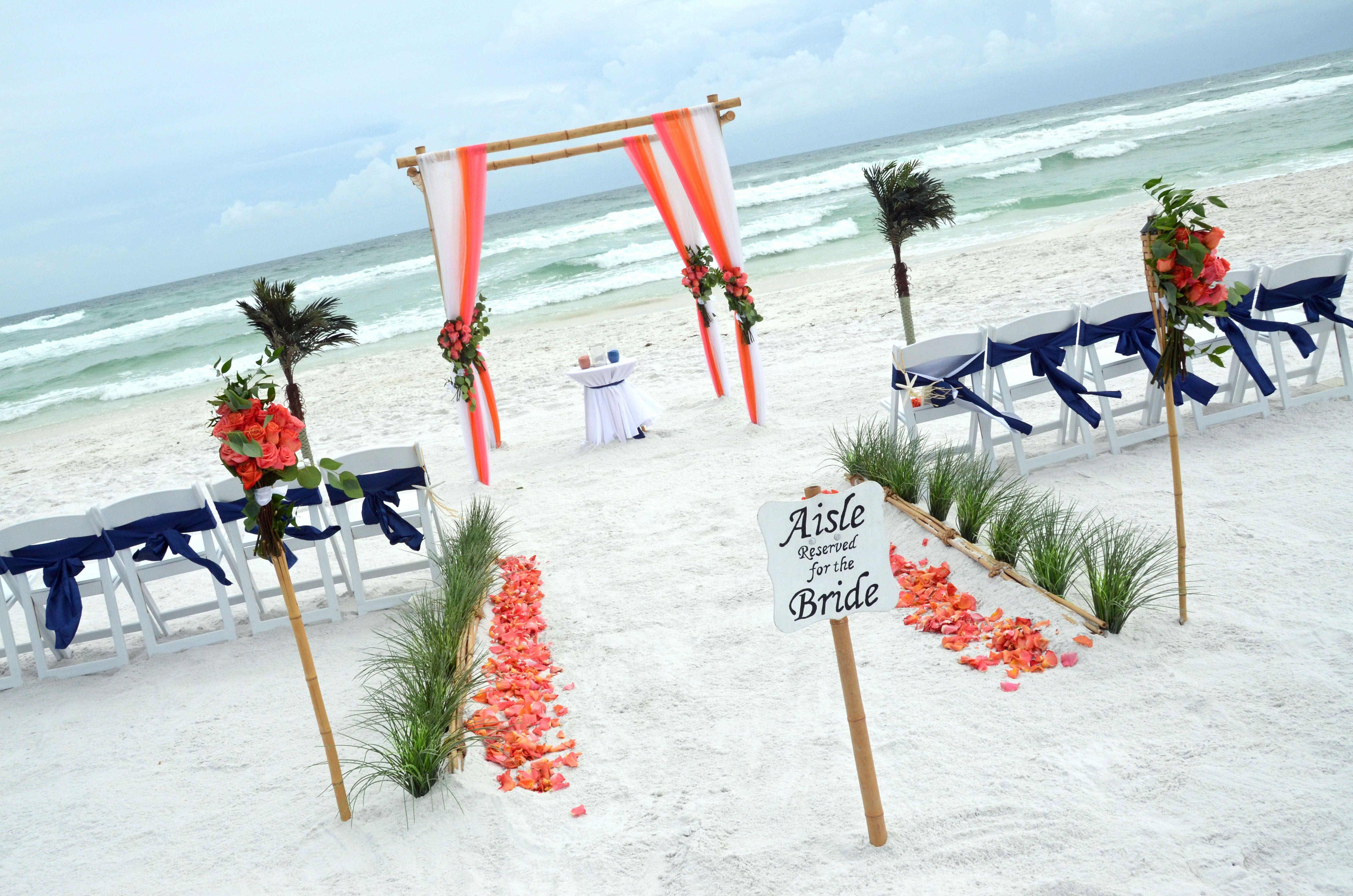 Florida Beach Wedding in 2020 Sunset beach weddings