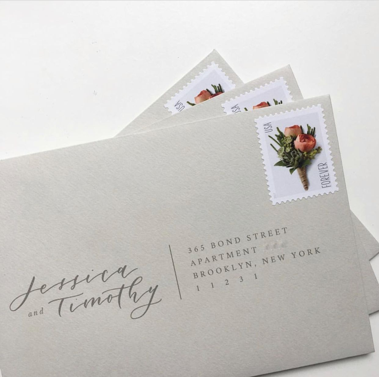 Calligraphy Names On One Side Address