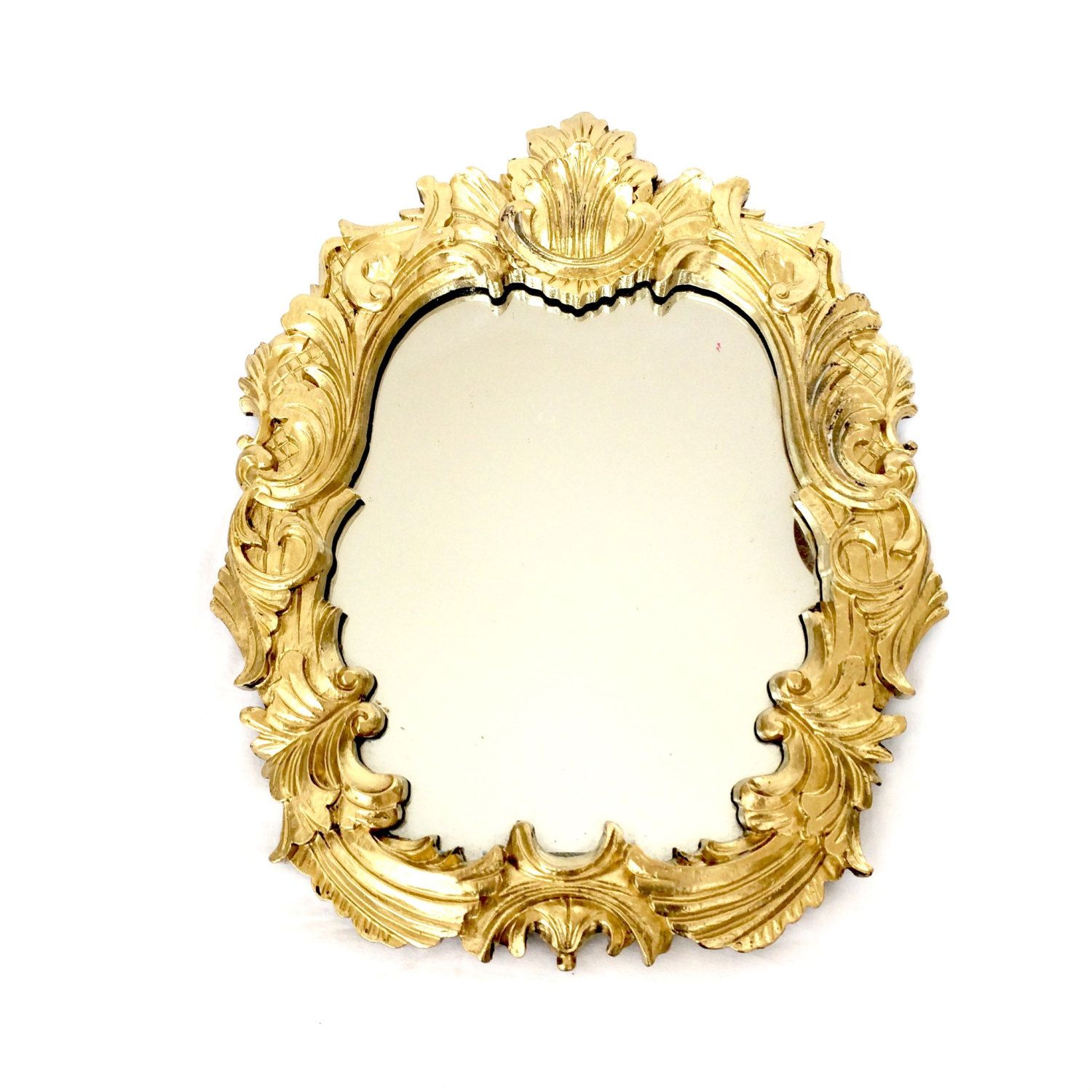 Ornate Gold Round Mirror / Ornate Baroque Gold wall mirror by ...