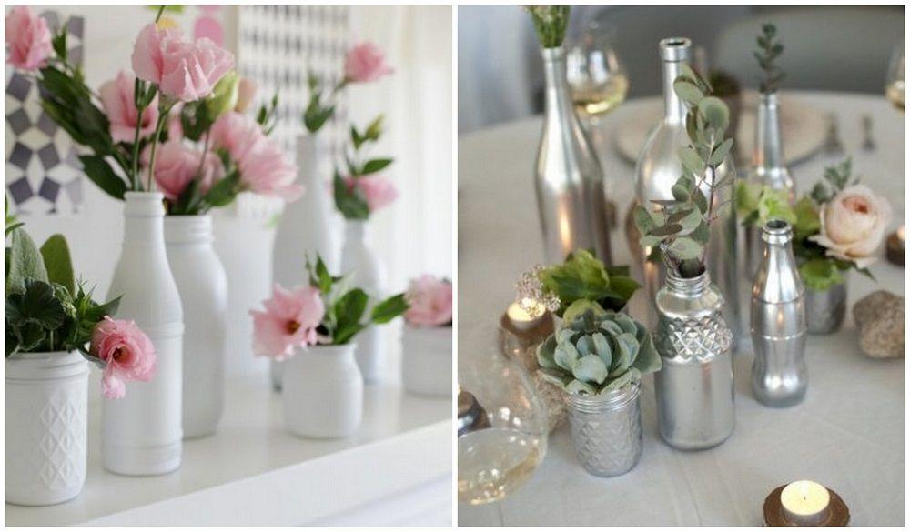 Como pintar botellas de vidrio jarrones pinterest - Como decorar jarrones de vidrio ...