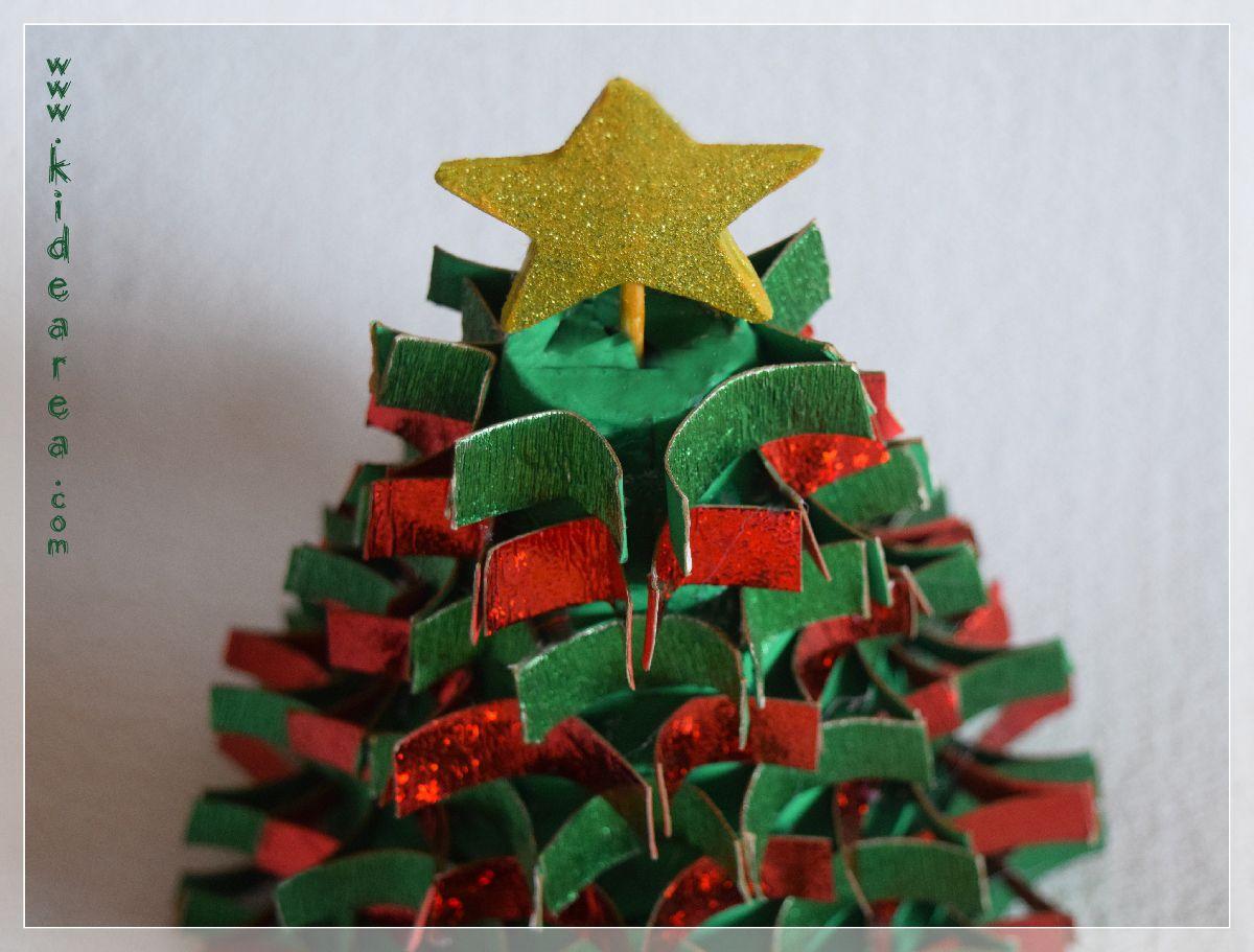 Arbolito de navidad con material reciclado manualidades - Manualidades faciles de navidad para ninos ...
