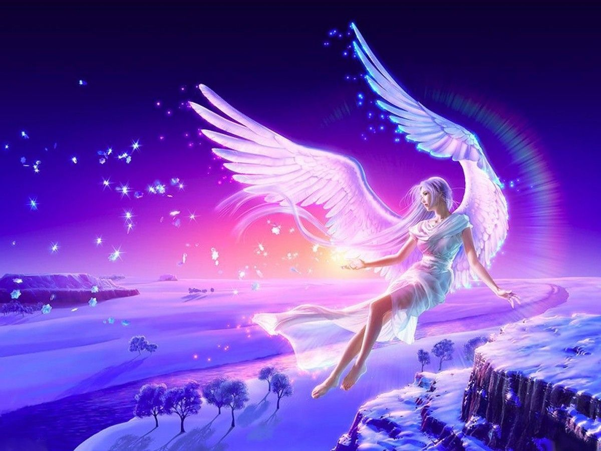 glittering angels wall prints | beautiful angels wallpapers | angels