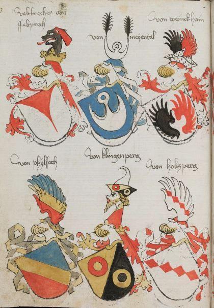 Wappenbuch des St. Galler Abtes Ulrich Rösch Heidelberg · 15. Jahrhundert Cod. Sang. 1084 Folio 93