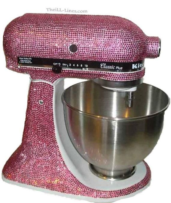 Custom New PINK mixer Made With Swarovski Elements ...