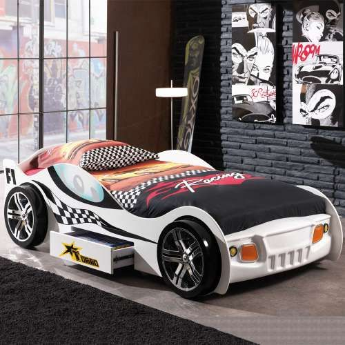 Cama Coche Juvenil Blanco Car Bed Toddler Car Bed Bed