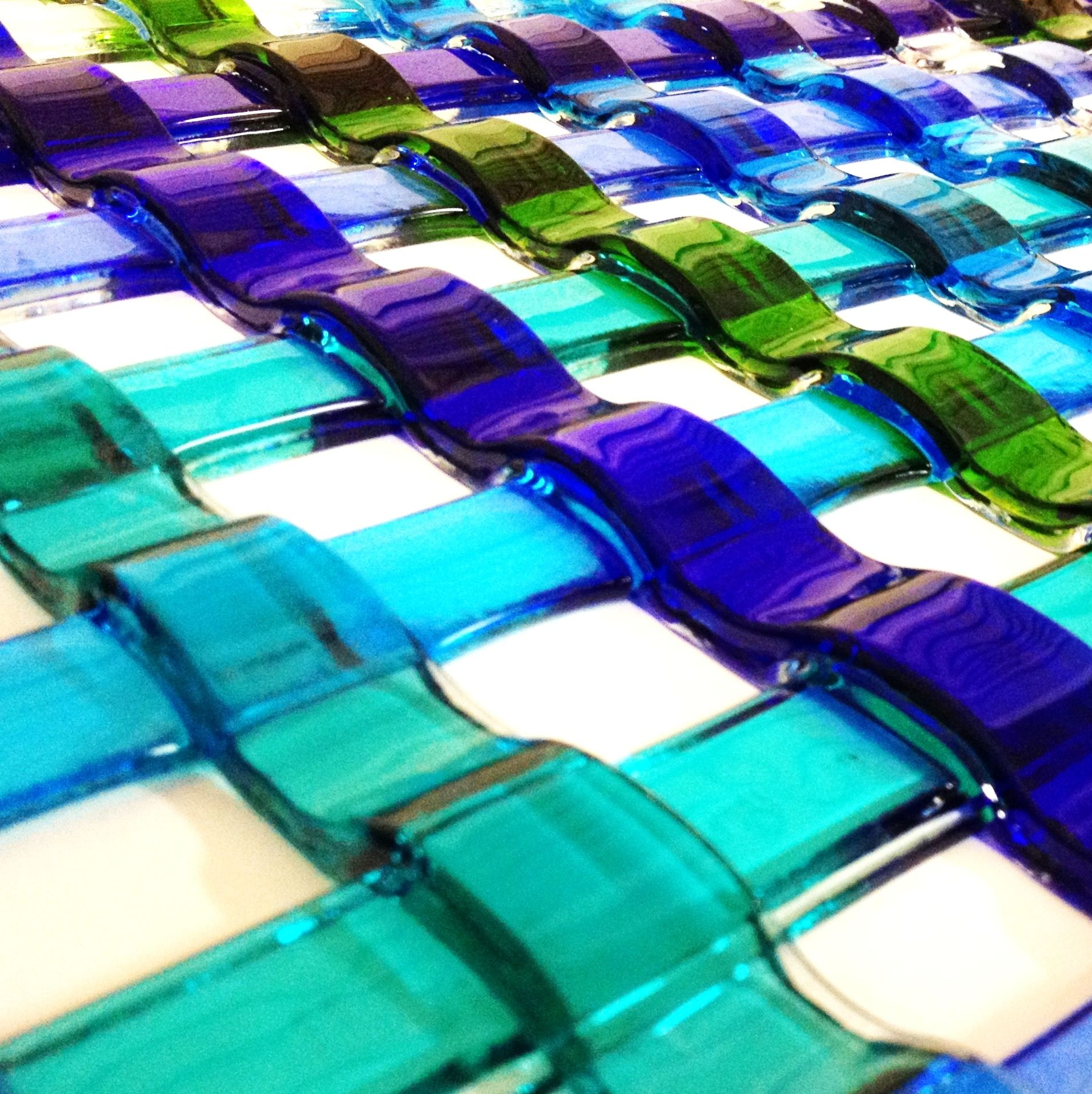 Pin on fused glassbeads