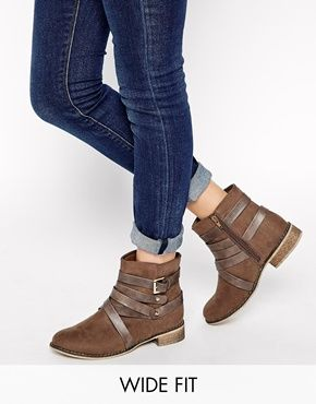 New Look Wide Fit Bobby Multi Strap Ankle Boots | Nyc, Walking and ...