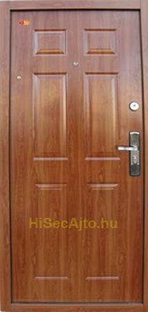 Aranytölgy színű HiSec acél biztonsági bejárati ajtó