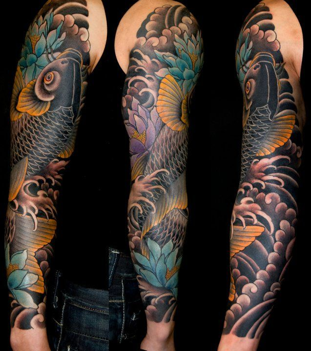Tatouage Carpe Koi 26 Tatouage Tatouage Tatouage Carpe Koi Et