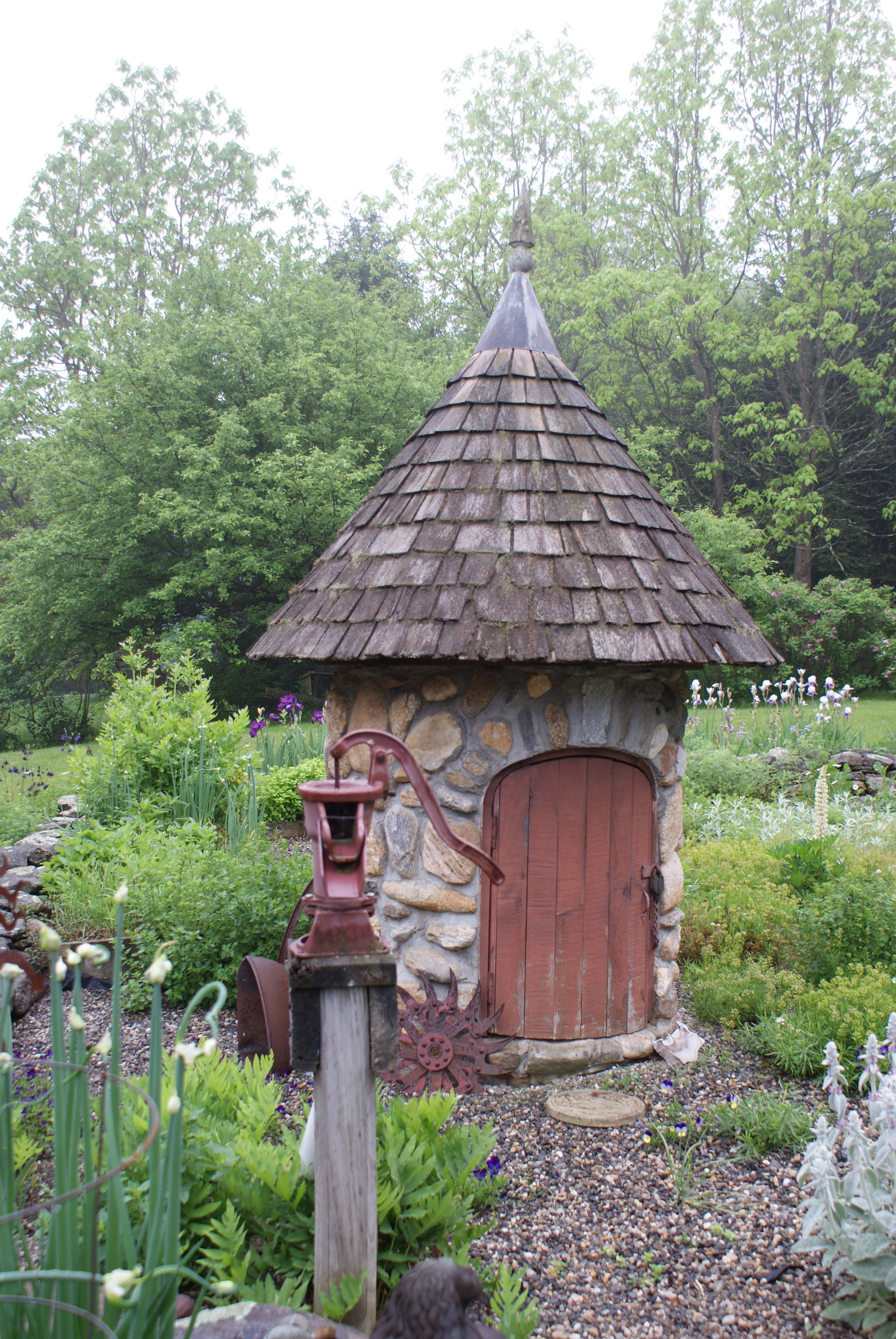 Well House In Spring Water Well House Pump House Outdoor Landscaping