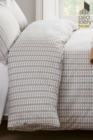 Buy Orla Kiely Tiny Stem Natural Duvet Cover Online Today At Next Australia Natural Duvet Covers Duvet Covers King Size Duvet Covers