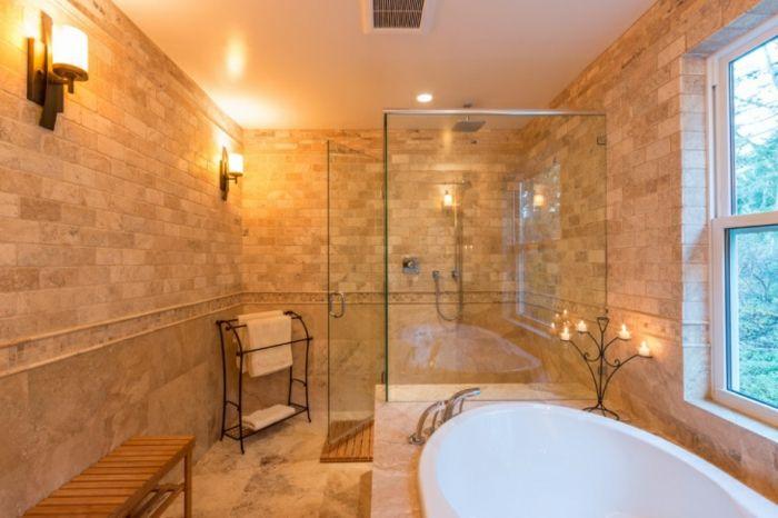 ▷ 1001 + idées déco pour la salle de bain travertin Future and Room - carrelage en pierre naturelle salle de bain