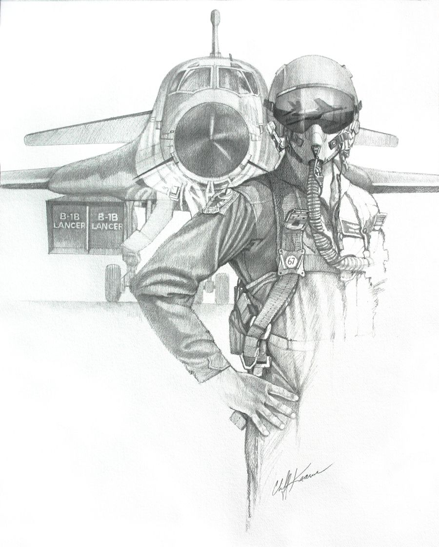 B1 lancer bomber pilot drawing original is 24 x 16 original art available for 850 usd includes packing shipping