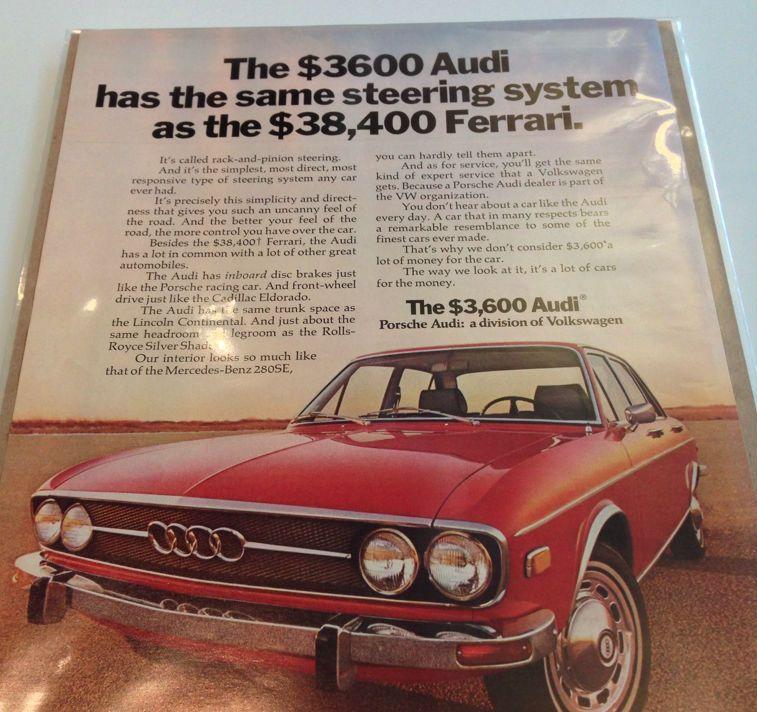 1972 AUDI 100LS