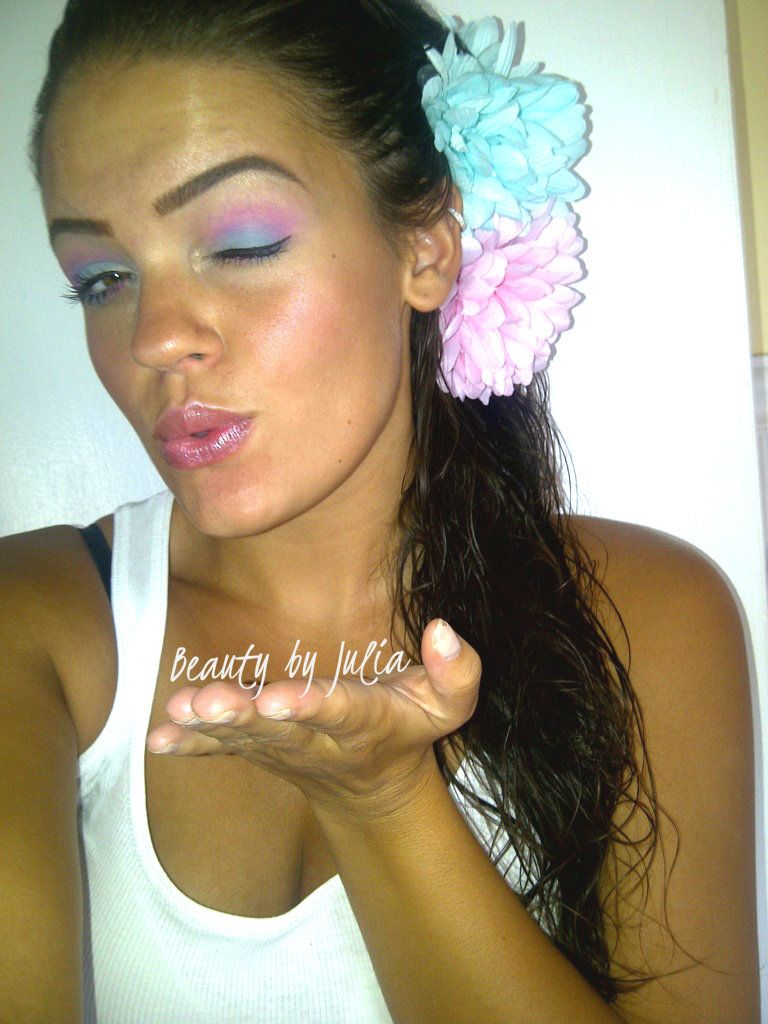 Cotton Candy!   http://www.youtube.com/user/LasciviousMakeup?feature=guide
