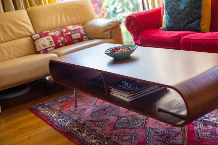 Made hooper coffee table yellow leather couch persian rug also wood
