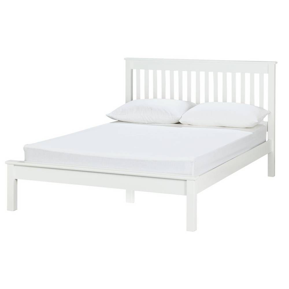 Buy Argos Home Aspley Double Bed Frame White Bed Frames In 2020 White Wooden Bed Small Double Bed Frames Bed Frame
