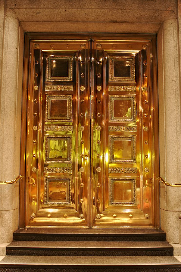 Gold Door In Gastown At Night Photography By Proggie On Flickr Gold Door Cool Doors Beautiful Doors