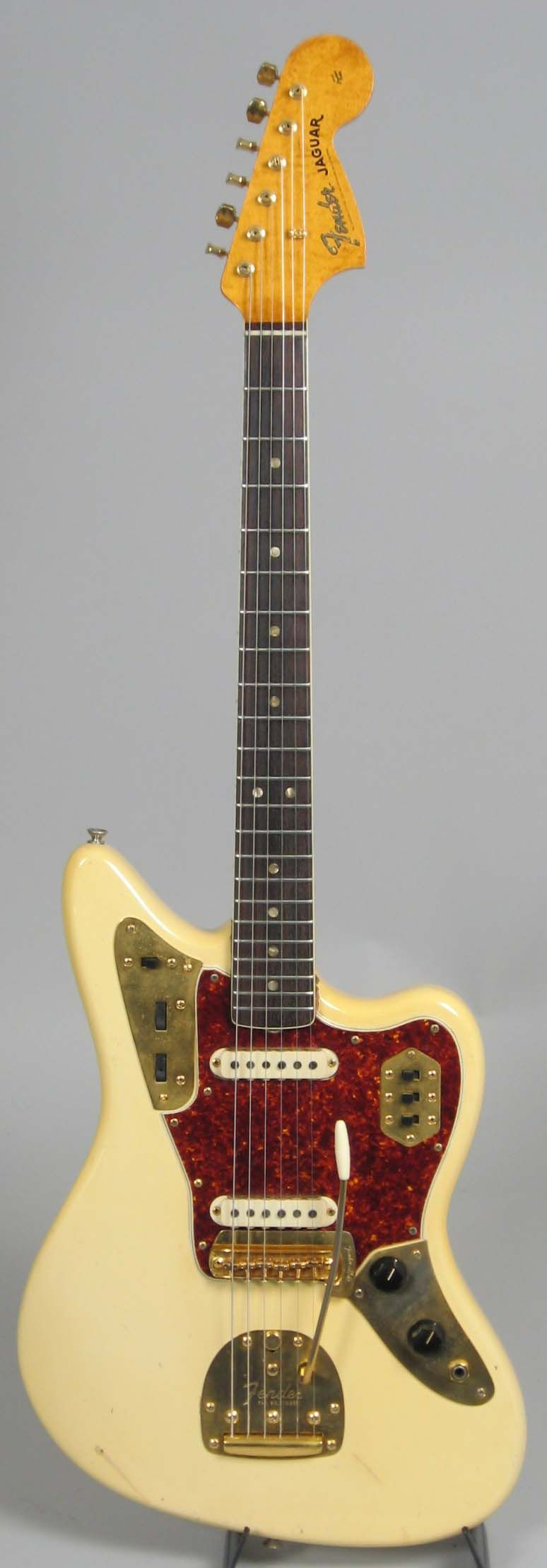 1966 fender jaguar blonde with gold hardware | guitars | pinterest