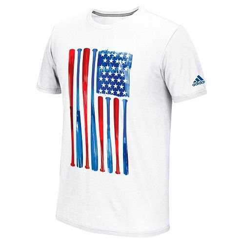 Men's adidas Climalite Baseball Flag Tee