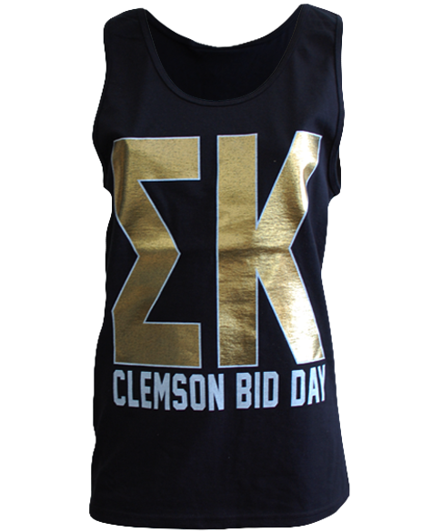 Sigma Kappa Clemson Bid Day Tank by Adam Block Design | Custom Greek Apparel & Sorority Clothes | www.adamblockdesign.com