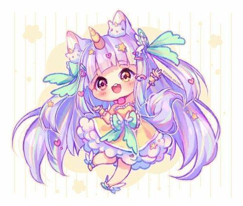 Immagine Di Anime Cute Anime Chibi Chibi Girl Drawings Chibi Unicorn