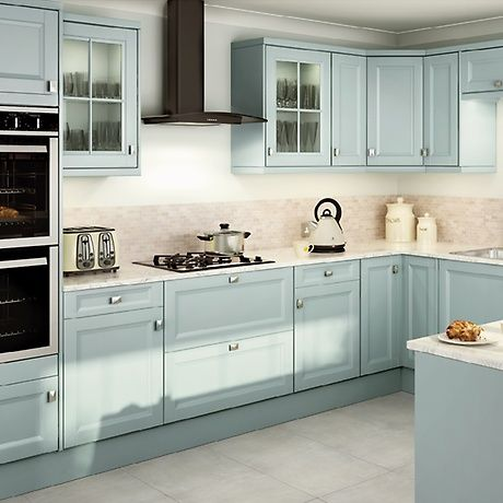 Valeting Blue Kitchen from homebase | cottage interiors | Pinterest ...