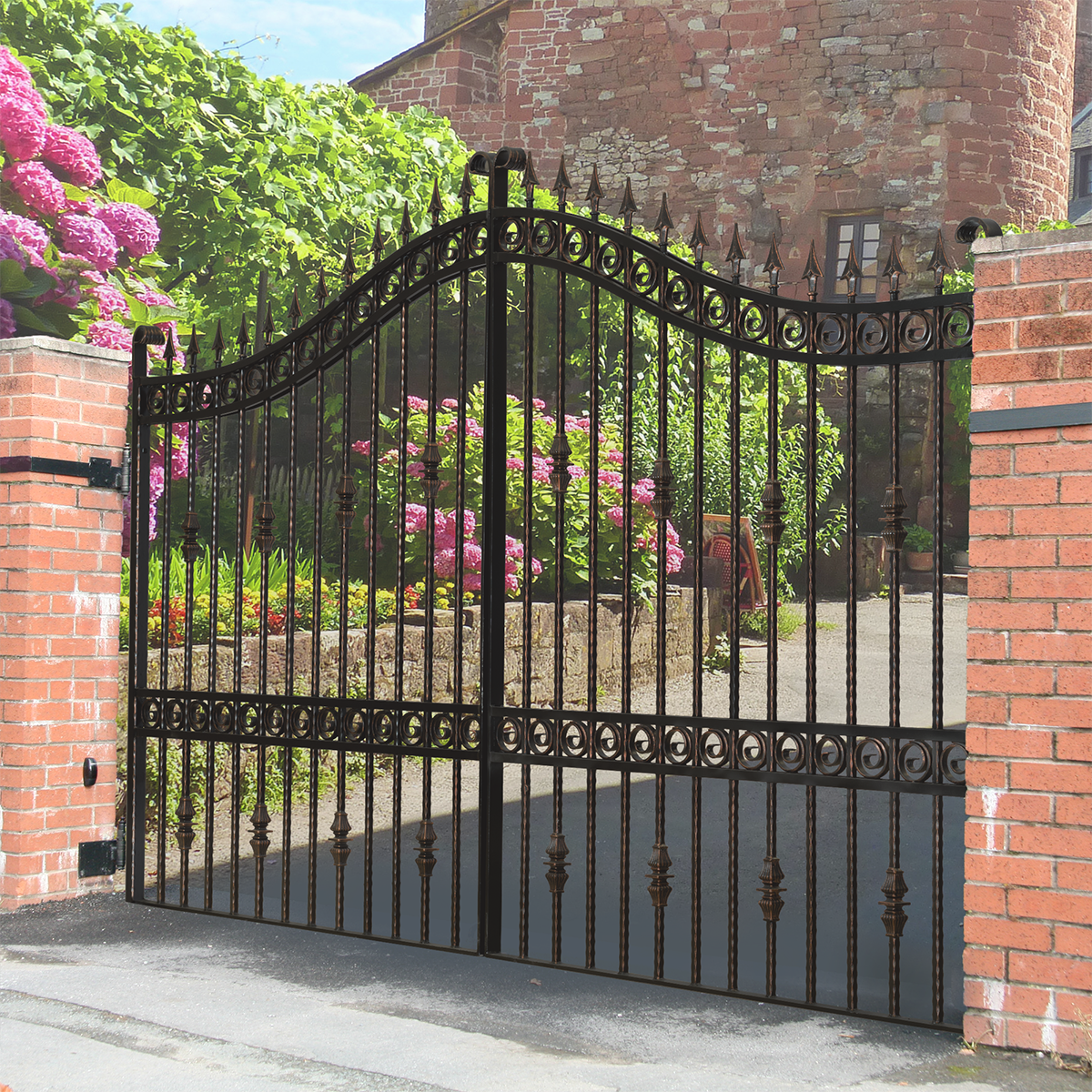 Buy The u0027Gosfordu0027 Wrought Iron Estate Gate from The Iron Gate Shop UK & Buy The u0027Gosfordu0027 Wrought Iron Estate Gate from The Iron Gate Shop ...