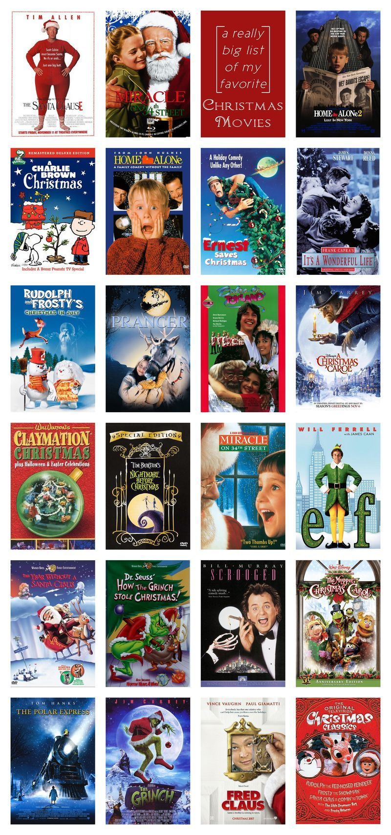 List Of Christmas Movies By Year