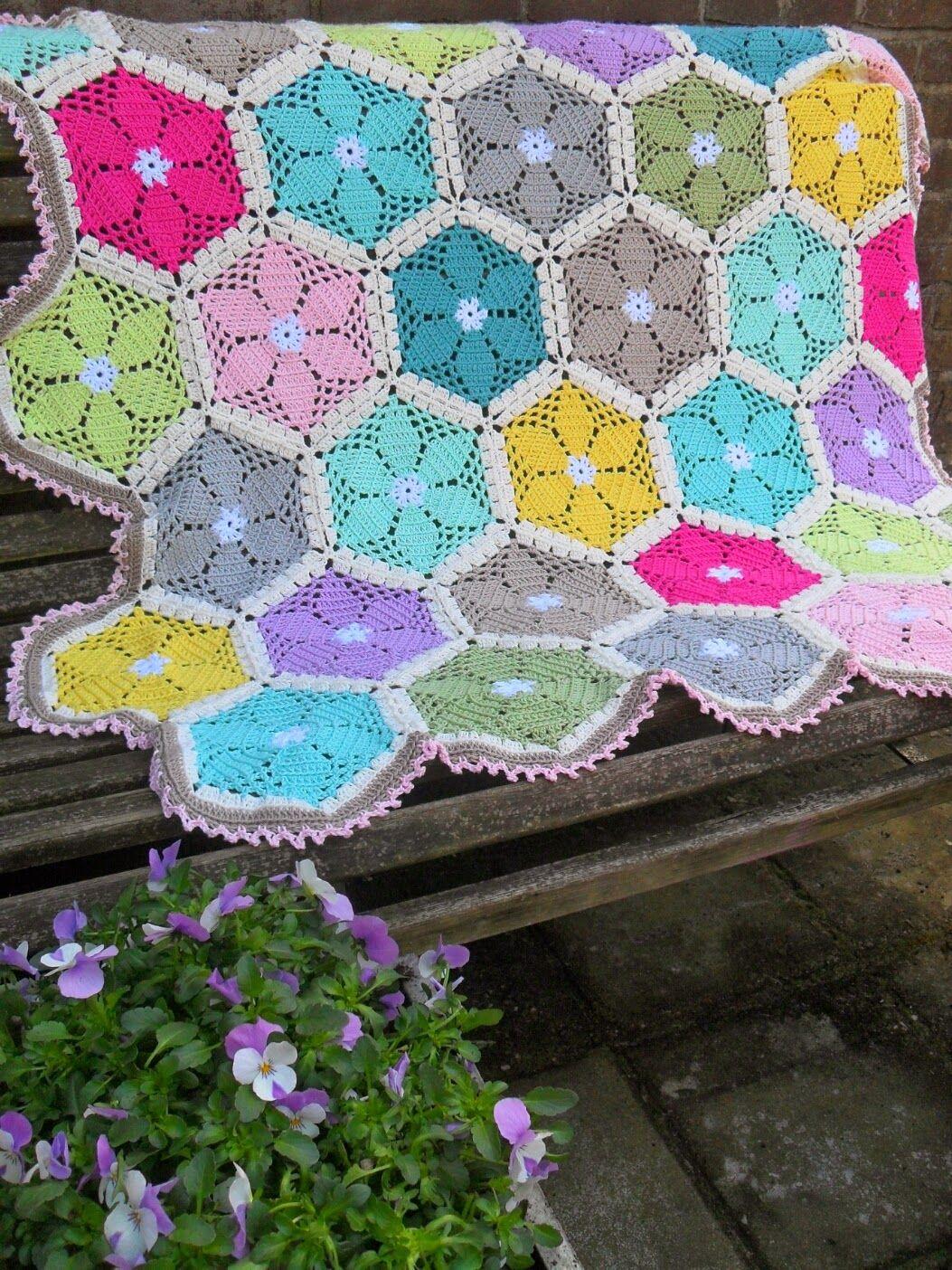 GeHaakt door Marijtje: Patroon gehaakt hexagon | Haken | Pinterest ...