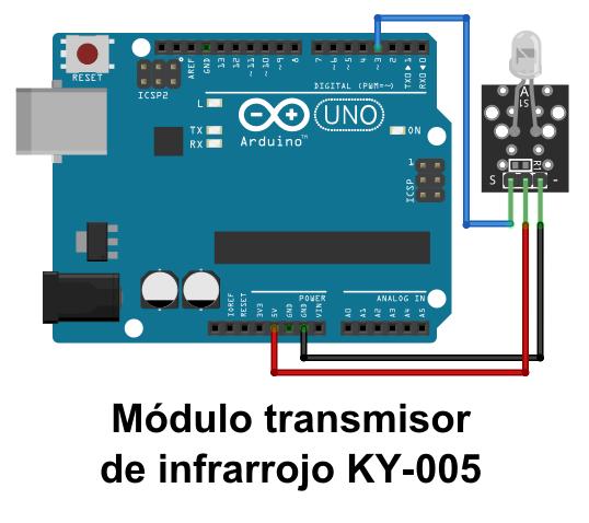 Módulo Transmisor De Infrarrojo Ky 005 Kit De Sensores Keyes 5 Modulos Sensores Arduino