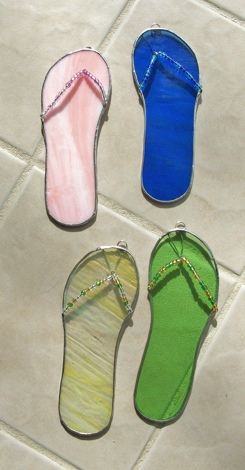 609e600aa42f Stained glass flip flops Stained Glass by Ceil Jane