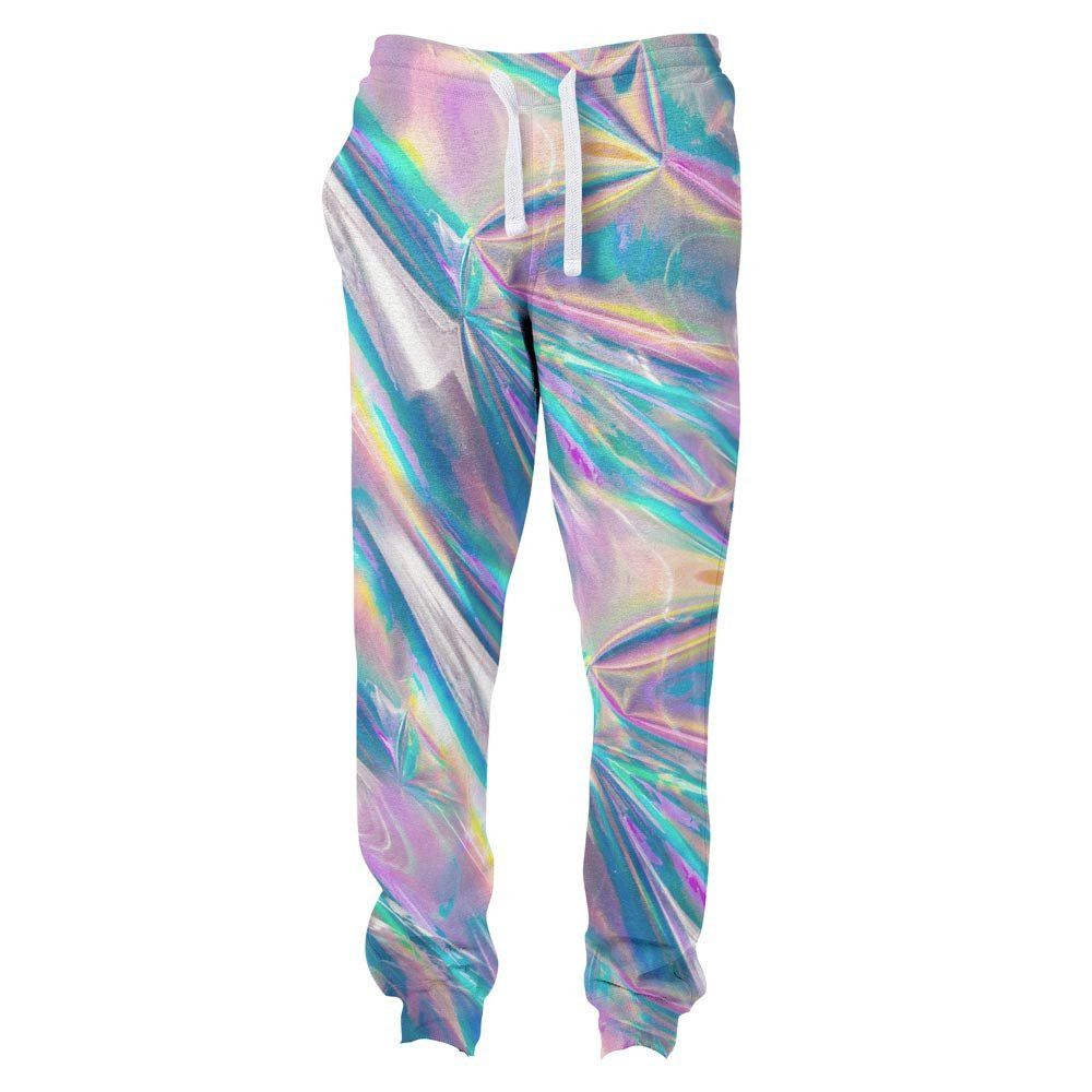 70910caa33442 Holographic Foil Joggers
