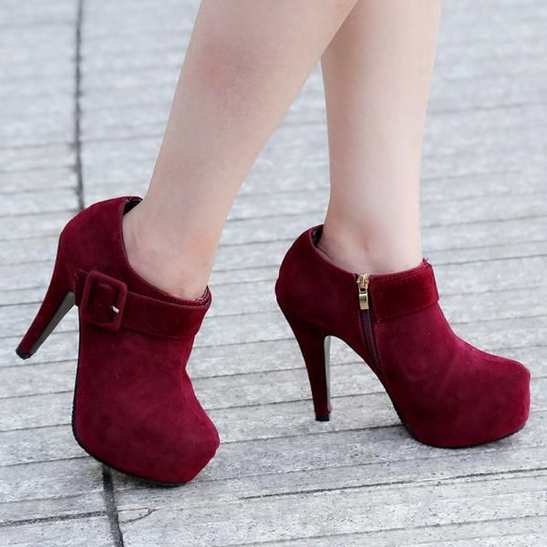8e46ba9df968 Ladies Buckle Design High Heels Ankle Boots on Luulla